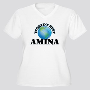 World's Best Amina Plus Size T-Shirt