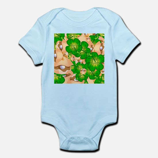 Shells and hibiscus Body Suit
