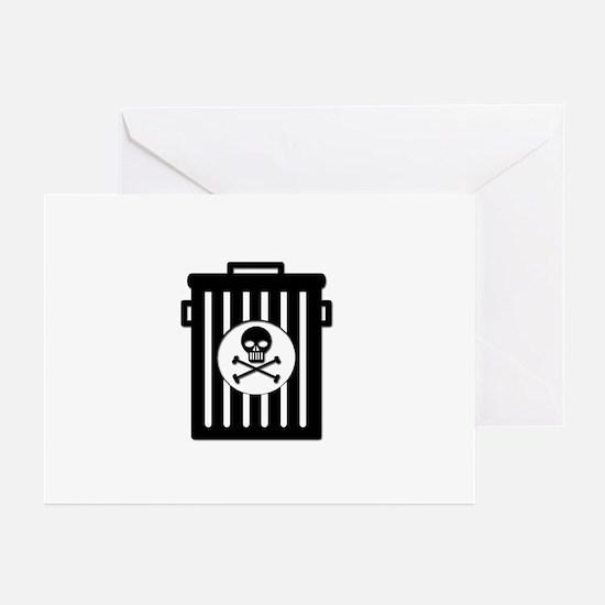Skull Trash Greeting Cards (Pk of 10)