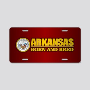 Arkansas Born and Bred Aluminum License Plate