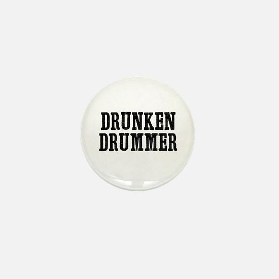 drunken drummer Mini Button