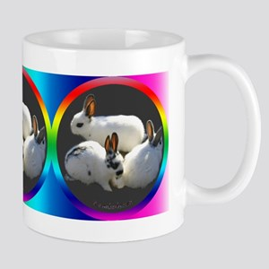 Rainbow Rabbits Mug