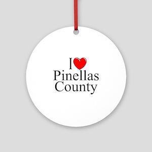 """""""I Love Pinellas County"""" Ornament (Round)"""