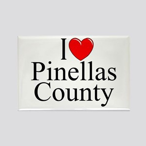 """I Love Pinellas County"" Rectangle Magnet"
