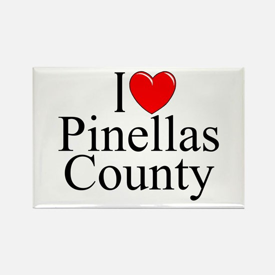 """""""I Love Pinellas County"""" Rectangle Magnet"""