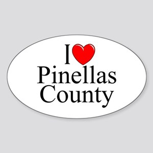 """I Love Pinellas County"" Oval Sticker"