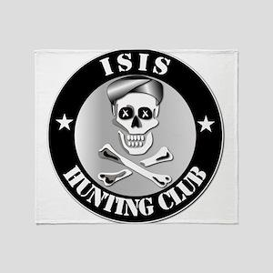 ISIS Hunting Club Throw Blanket