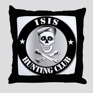 ISIS Hunting Club Throw Pillow