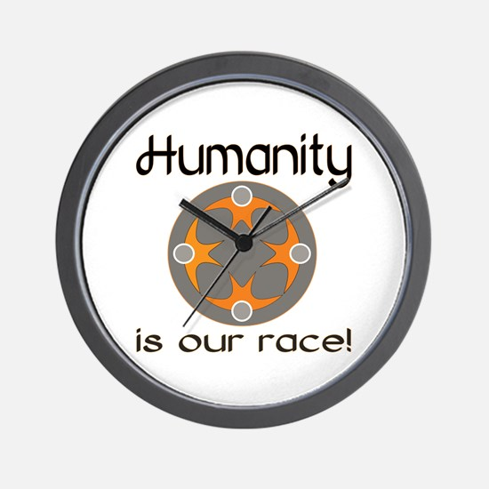 Humanity Is Our Race Wall Clock