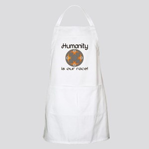 Humanity is our race Light Apron