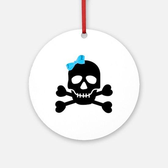 Pirate Girl Ornament (Round)