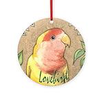 Lovebird Nouveau Ornament (Round)