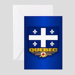 Quebec Flag Greeting Cards