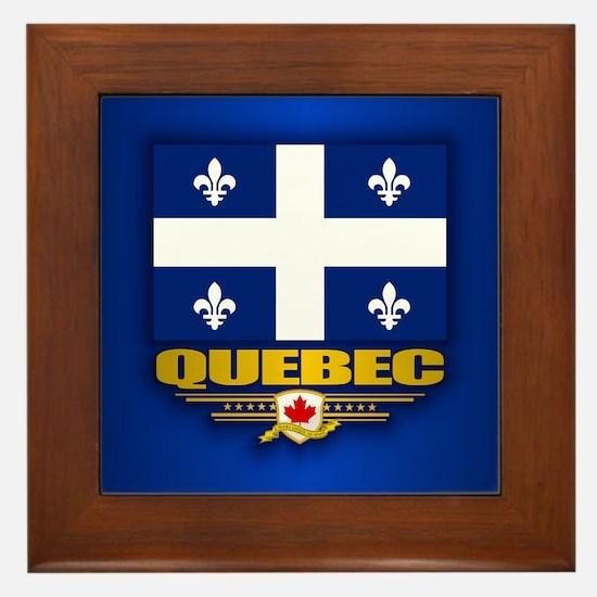 Quebec Flag Framed Tile