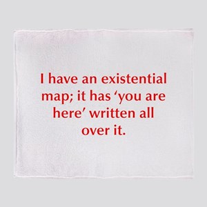 I have an existential map it has you are here writ