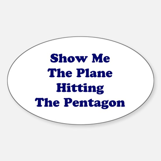 Pentagon Plane Oval Decal