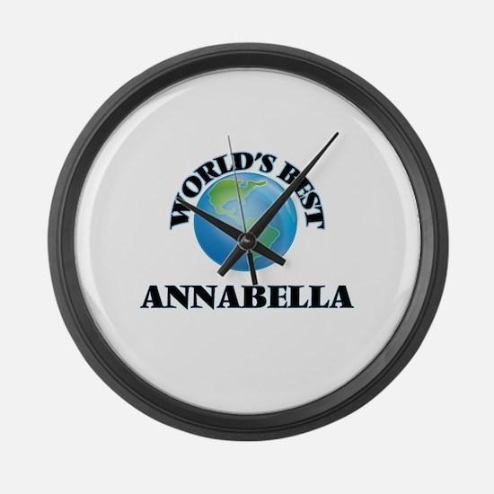 World's Best Annabella Large Wall Clock