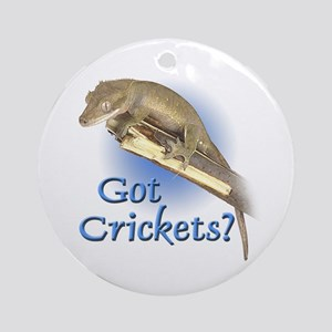 Crested Gecko Ornament (Round)
