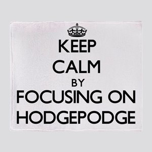 Keep Calm by focusing on Hodgepodge Throw Blanket