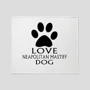 Love Neapolitan Mastiff Dog Throw Blanket