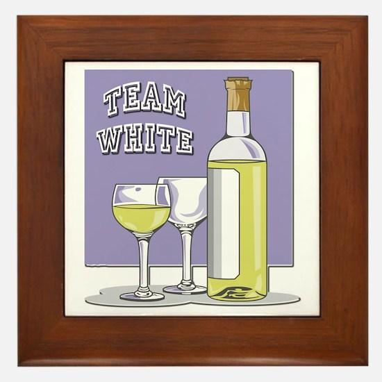 Team White Wine Framed Tile