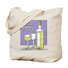 Team White Wine Tote Bag