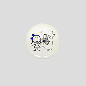 Girl & Piano Mini Button