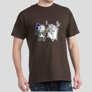 Girl & Piano Dark T-Shirt