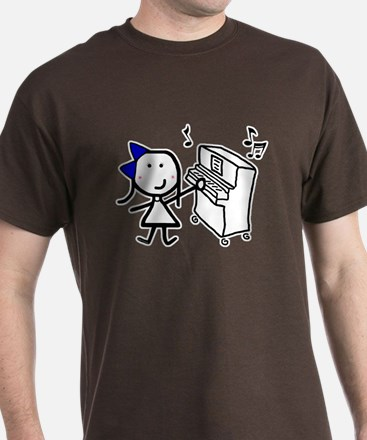 Girl & Piano T-Shirt