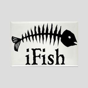 I Fish Rectangle Magnet