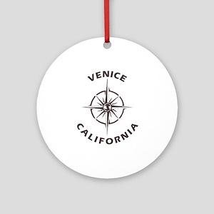 California - Venice Round Ornament