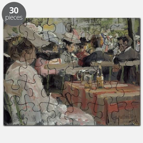 A Garden Restaurant, 1906 (oil on card) - Puzzle