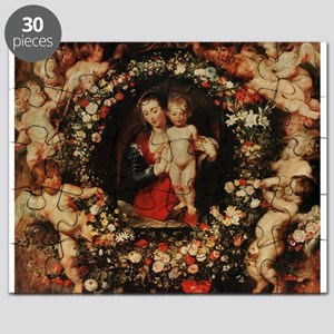 Virgin with a Garland of Flowers, c.1618 - Puzzle