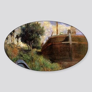Paul Gauguin Blue Barge Sticker (Oval)