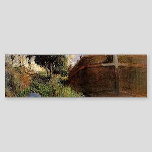 Paul Gauguin Blue Barge Sticker (Bumper)