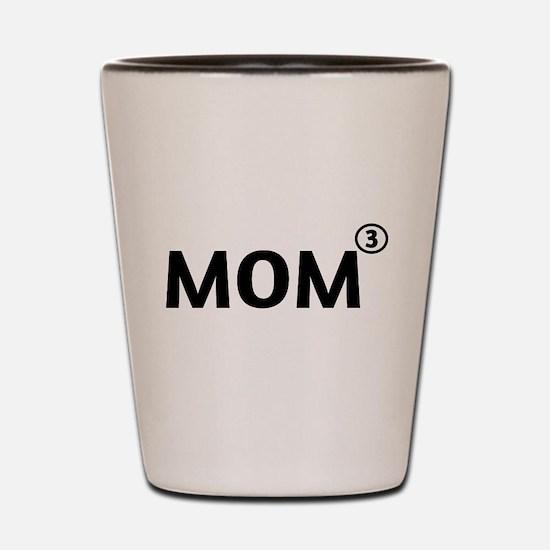 Mom cubed Shot Glass