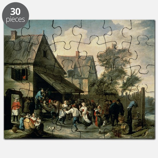 A Country Dance (oil on canvas) - Puzzle