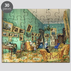 Interior of a living room, 1847 (watercol - Puzzle