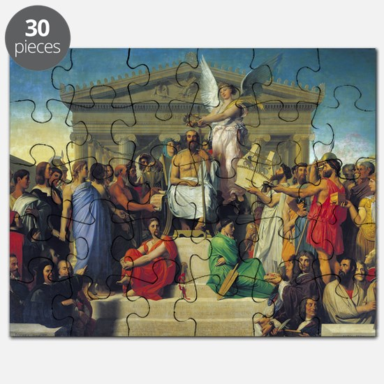 Apotheosis of Homer, 1827 (oil on canvas) - Puzzle