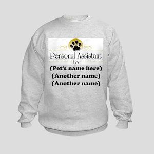 Pet Personal Assistant (Multiple Pets) Kids Sweats