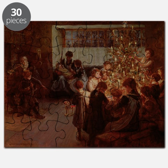 The Christmas Tree, 1911 (oil on canvas) - Puzzle