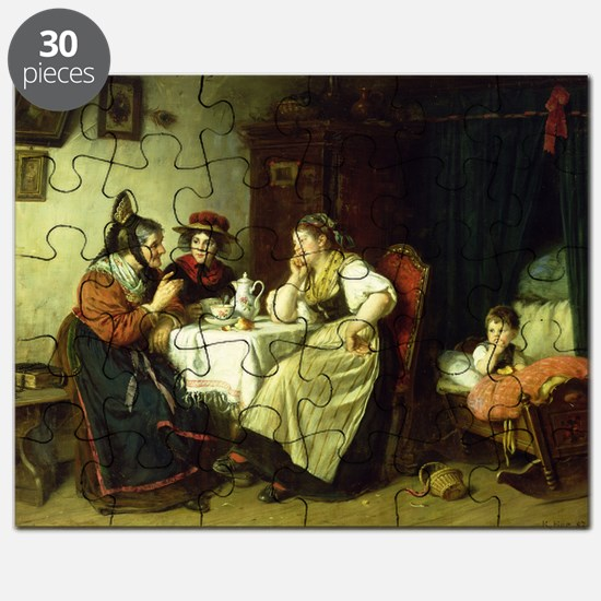 The Gossips, 1887 (oil on canvas) - Puzzle