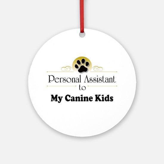 My Canine Kids Ornament (Round)