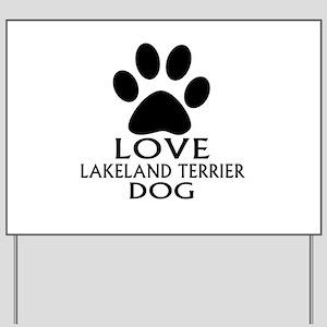 Love Lakeland Terrier Dog Yard Sign