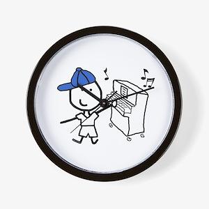 Boy & Piano Wall Clock