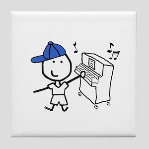 Boy & Piano Tile Coaster