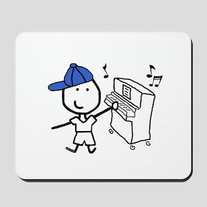 Boy & Piano Mousepad