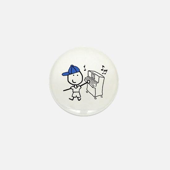 Boy & Piano Mini Button