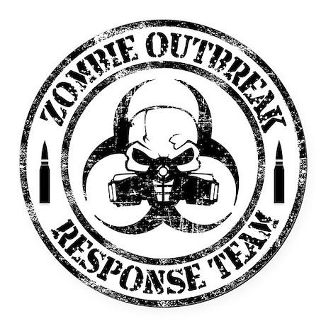 zombie apocalypse car magnets cafepress Zombie Transparent zombie outbreak response team round car magnet