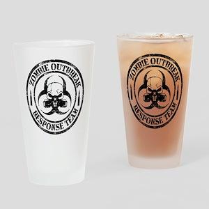 Zombie Outbreak Response Team Drinking Glass